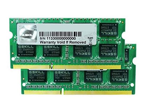 4096 MB SO-DDR3 PC1066 G.Skill SQ-Series Dimm Kit