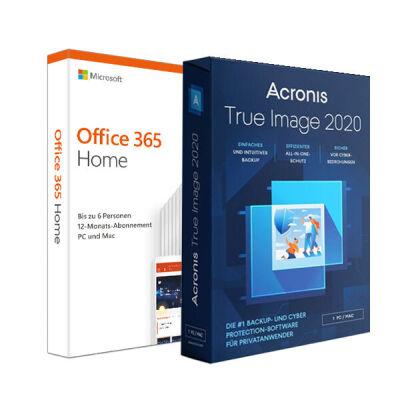 Microsoft: Office 365 Home + Acronis TI 2020 Sub, 1 Jahr - PKC