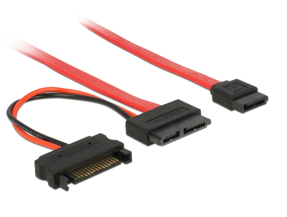 Delock SATA Kabel 0.70m, Slimline, Stecker - 84799