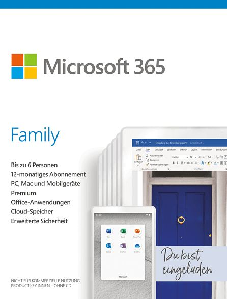 Microsoft Office 365 Family, 1 Jahr, PKC