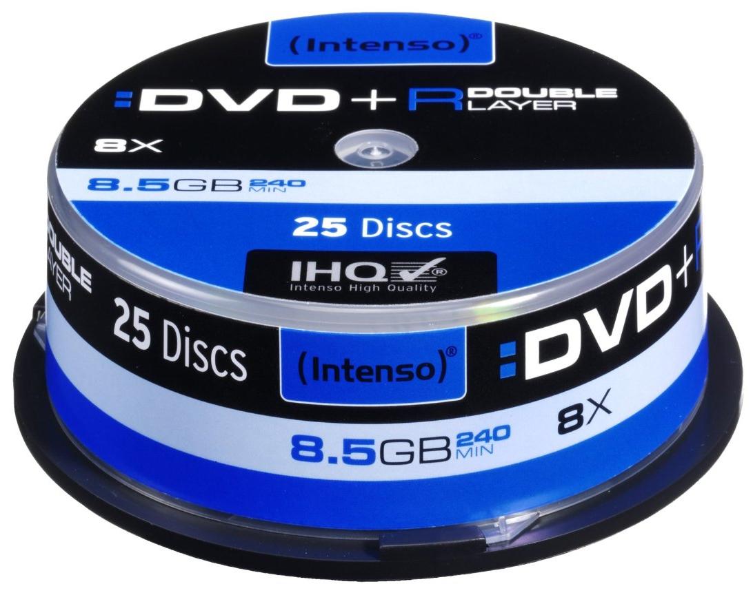 INTENSO DVD+R 8.5GB DL 8X, 25ER SPINDEL (4311144)