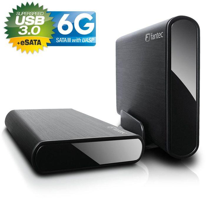 """Fantec DB-ALU3e-6G schwarz, 3.5"""", USB-B 3.0/eSATA"""