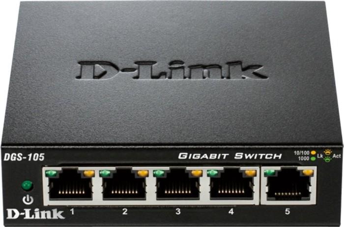 D-Link DGS-100 Desktop Gigabit Switch, 5x RJ-45 - DGS-105