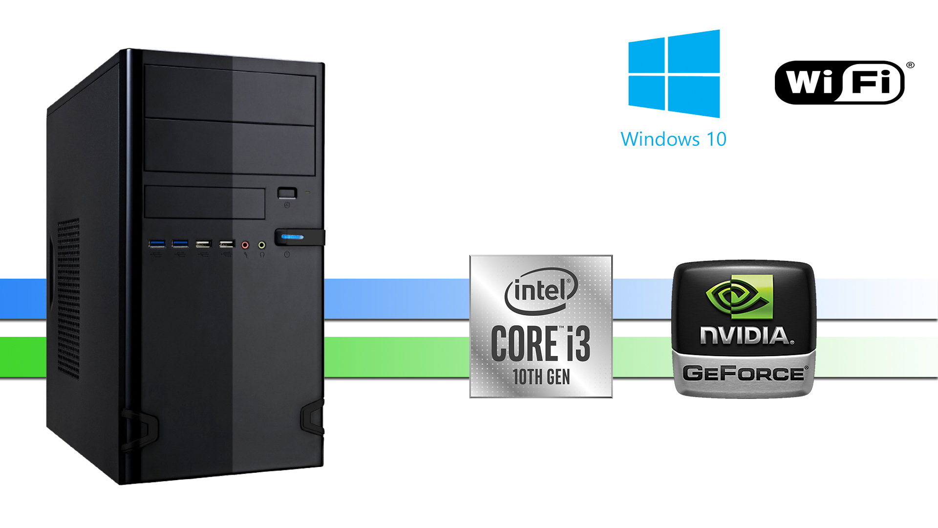 X-Working 10100: 8GB, 250GB M.2 SSD, NVIDIA, W10PRO WIFI