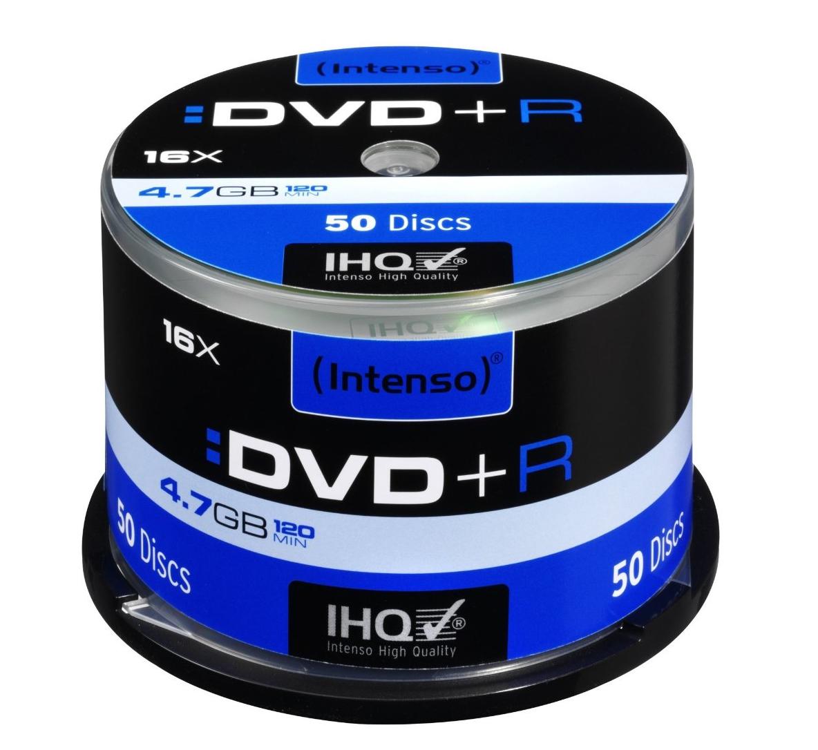 Intenso DVD+R 4.7GB 16x, 50er Spindel