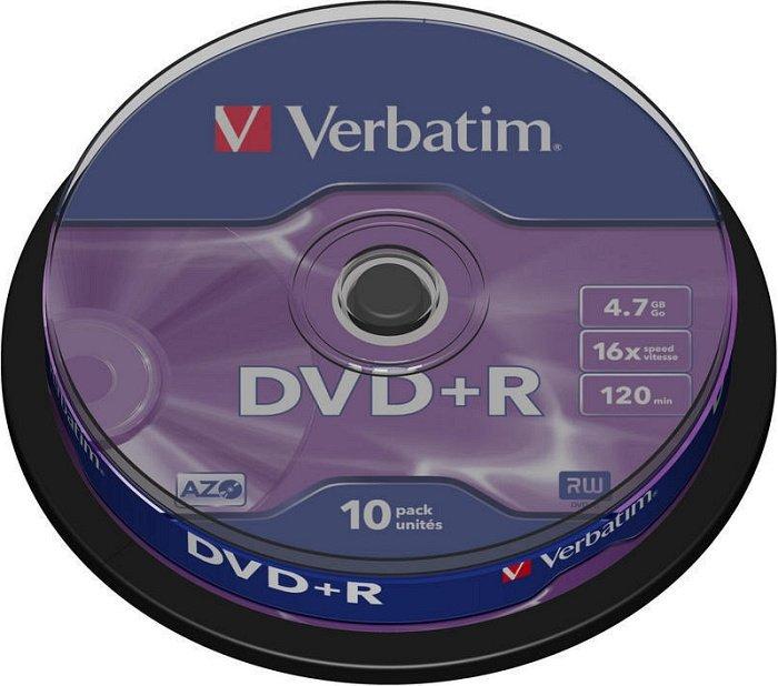 Verbatim DVD+R 4.7GB 16x, 10er Spindel