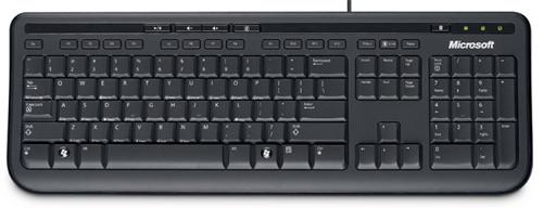 Microsoft Wired Keyboard 600 schwarz