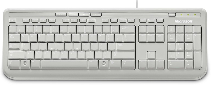 Microsoft Wired Keyboard 600 weiß