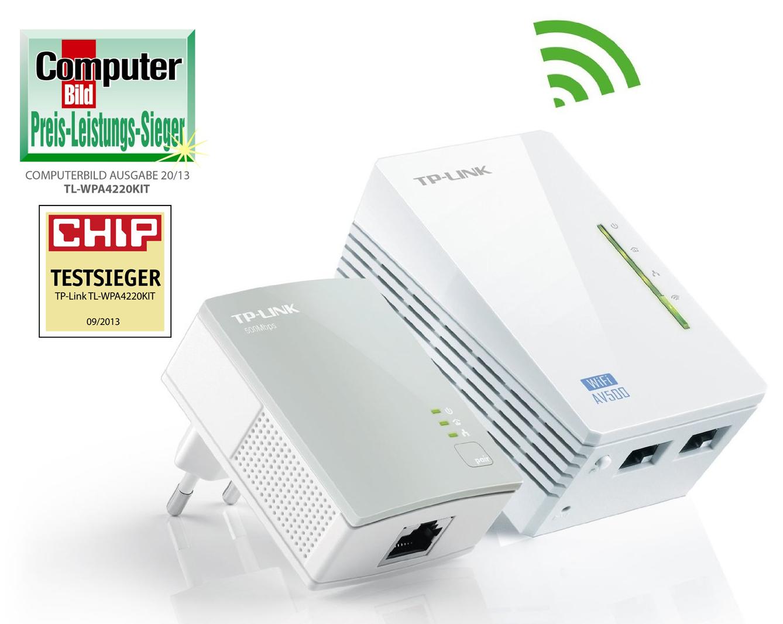 TP-LINK AV500 POWERLINE EXTENDER STARTER KIT, 500MBPS, 2X LAN - TL-WPA4220KIT