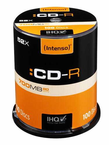 INTENSO CD-R 80MIN/700MB 52X, 100ER SPINDEL - 1001126