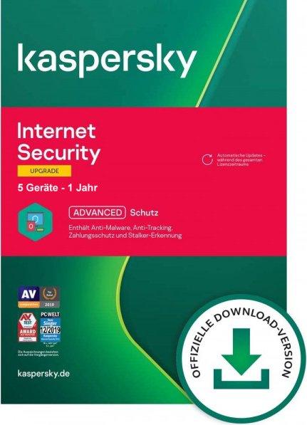 Kaspersky Internet Security, 5 User, 1 Jahr, Update, ESD