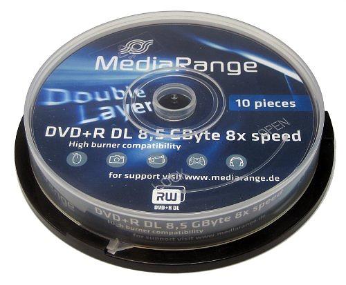 Mediarange DVD+R 8.5GB DL 8x, 25er Spindel
