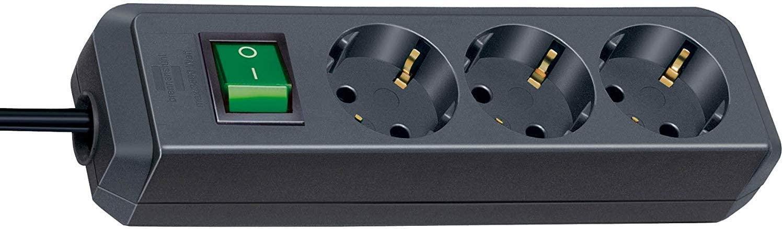 Brennenstuhl Eco-Line mit Schalter schwarz 3-fach, 1.5m - 1152300015