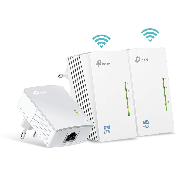 TP-Link AV600 Powerline Extender Triple Kit - TL-WPA4220TKIT,  500 Mb/s