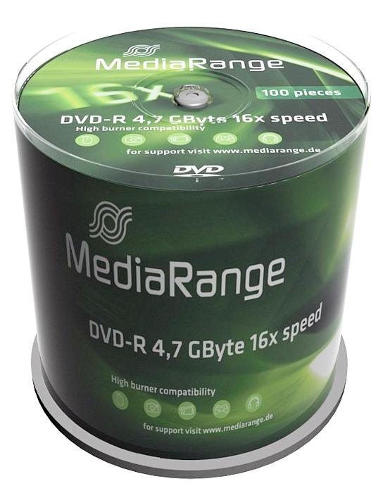 Mediarange 16x DVD-R 4,7GB 100er Spindel bedruckbar