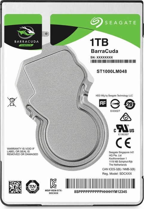 1000 GB SEAGATE BARRACUDA COMPUTE ST1000LM048