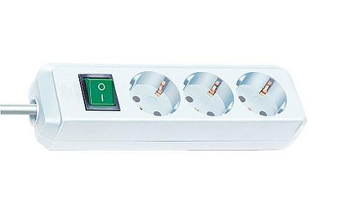 Brennenstuhl Eco-Line mit Schalter weiß 3-fach, 1.5m - 1152320015