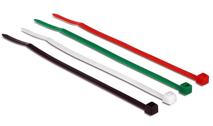 DeLock Kabelbinder farbig, 100 Stück, 10cm - 18625