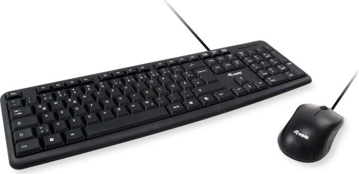 Equip Kabelgebundene Kombi aus Tastatur und Maus schwarz, USB, DE