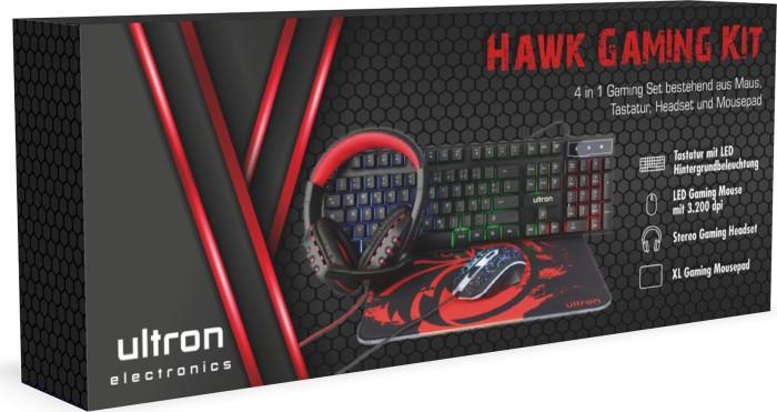 Ultron Hawk Gaming Kit 4in1 Set, USB, DE