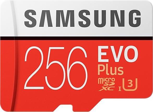 256 GB Samsung microSDXC EVO Plus (2020) Kit , UHS-I U3/Class 10