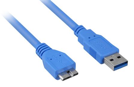 USB 3.0-Anschlusskabel A->Micro-B 3,0m