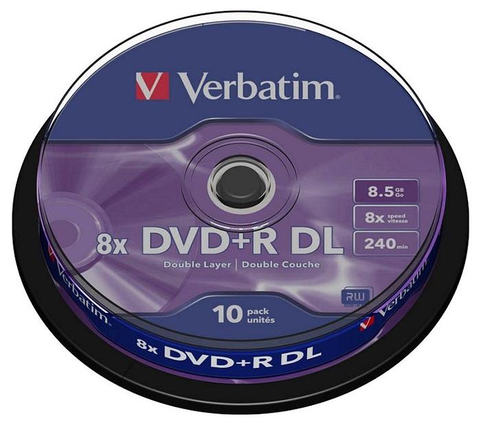 Verbatim DVD+R 8.5GB DL 8x, 10er Spindel
