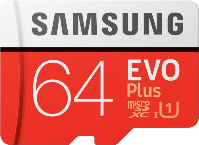64 GB Samsung microSDXC EVO Plus (2020) Kit , UHS-I U3/Class 10