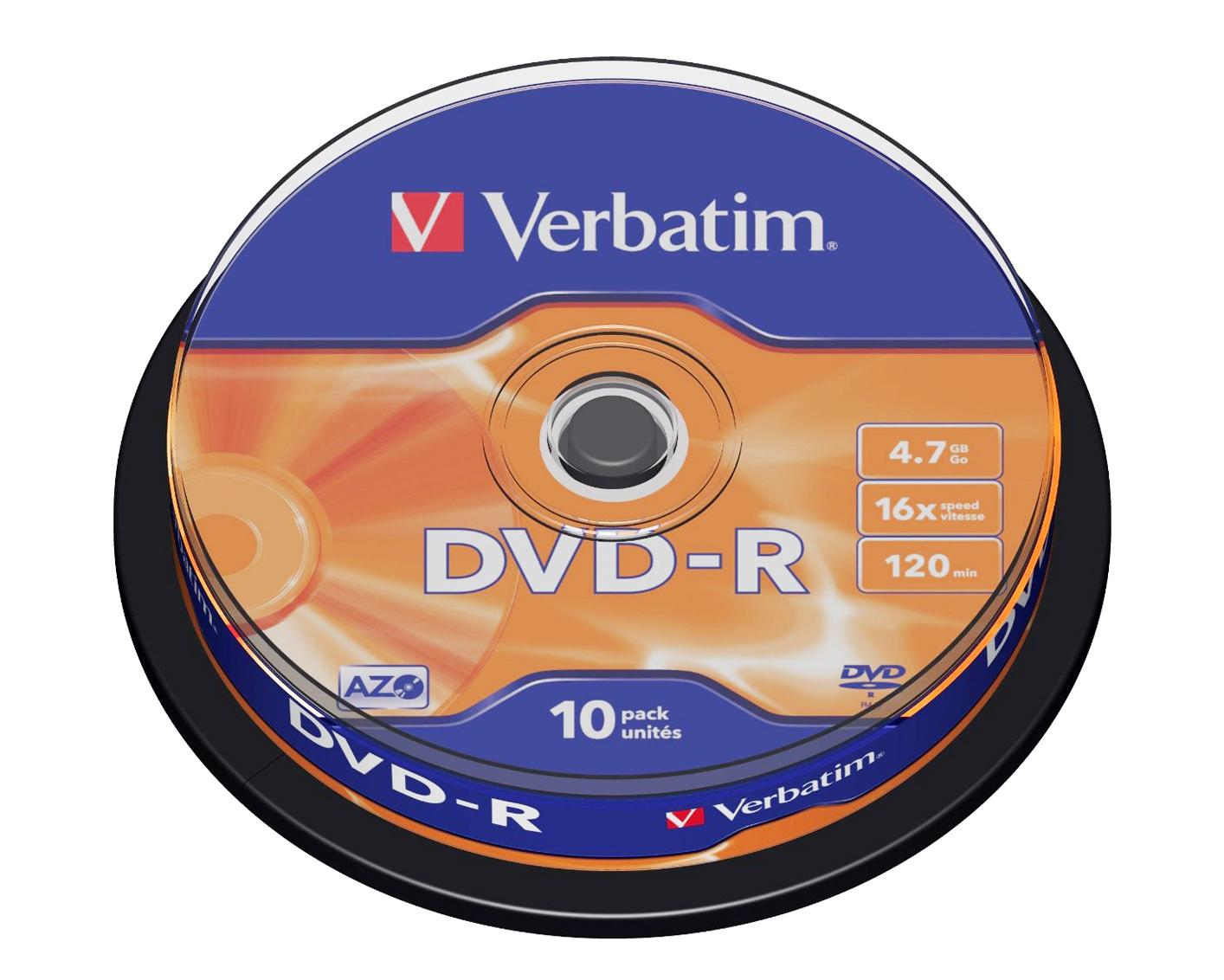 Verbatim DVD-R 4.7GB 16x, 10er Spindel
