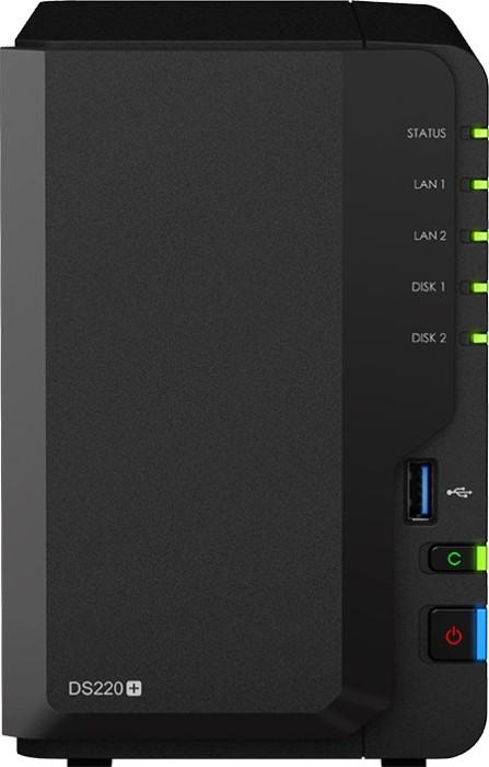 Synology DiskStation DS220+, 2GB RAM, 2x Gb LAN