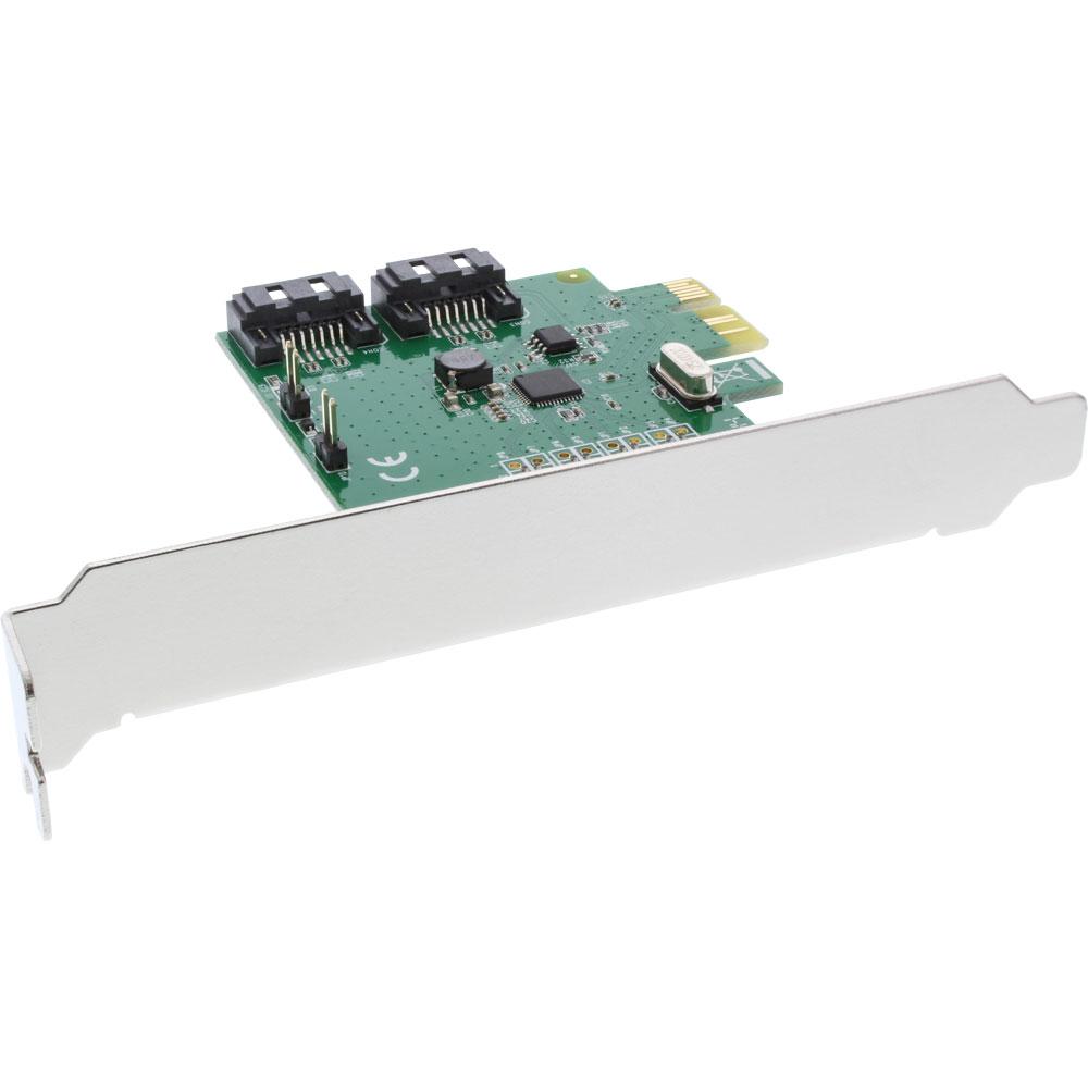 InLine 76696C, 2x SATA 6Gb/s, PCIe 2.0 x1