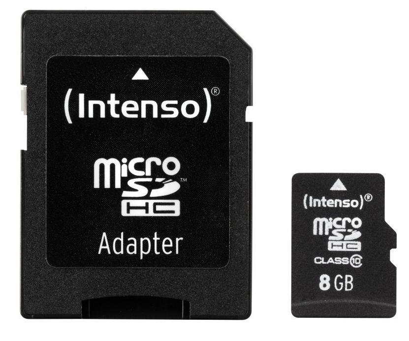 8 GB INTENSO MICROSDHC, UHS-I U1/CLASS 10