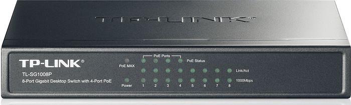 TP-LINK TL-SG1008P, POE