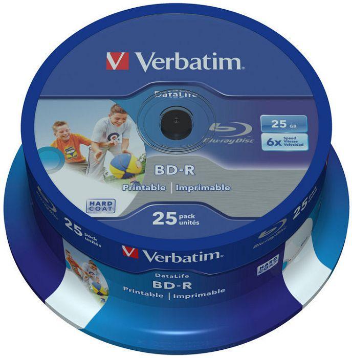 Verbatim BD-R 25GB 6x printable - 43811