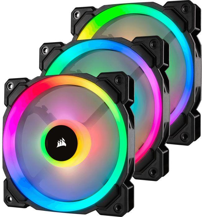 120MM CORSAIR LL SERIES LL120 RGB 3ER-PACK, LED-STEUERUNG - CO-9050072-WW