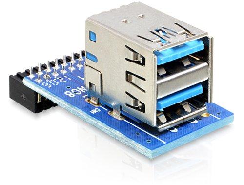 DeLock USB Pinheader auf 2x USB 3.0 A Adapter - 41865